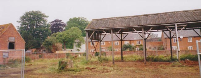 What the back of Home Farm was like before Chapman's Leas was built