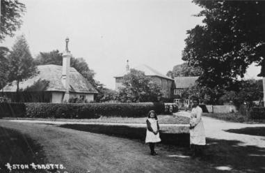 A view from the corner of The Green looking towards the Abbey lodge- date unknown