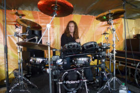 Aston Abbotts professional drummer Ian Roberts with his amazing V-Drums